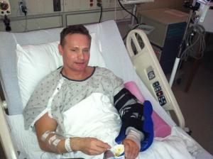 Steve Sadler after Surgery at Beaumont